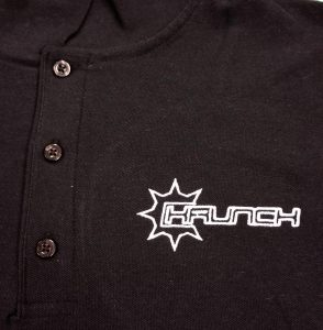 Krunch embroidered polo shirt
