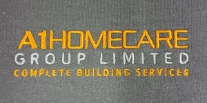 a1 homecare embroidered logo personalised workwear