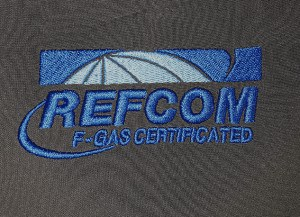 refcom embroidered logo personalised workwear