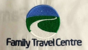 Family Travel Centre workwear logo embroidery