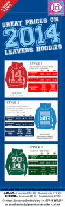 Printed leavers hoodies - on line discount / cheapest