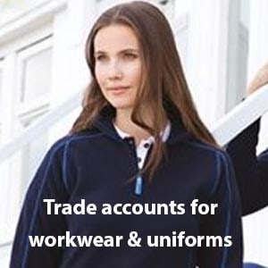 A trade account application for workwear & uniform with Dynamic Embroidery. Buy your workwear on account with us to appreciate the benefits of quality garments, professional embroidery and low prices. Set fixed logo uniform prices with a workwear account with Dynamic Embroidery