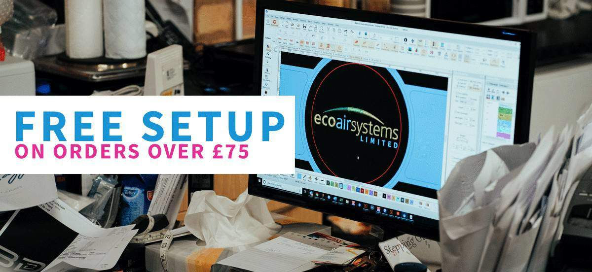 Free logo digitising of your company logo for all your workwear & corporate uniform when you spend over £75