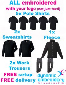 Embroidered workwear package - with trousers