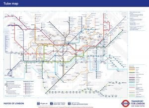 Map of the london tube underground stations - fast to load